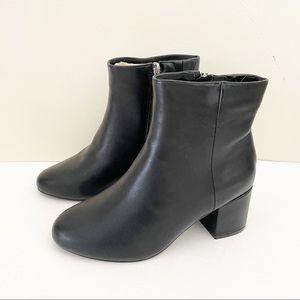 Torrid Faux Leather Ankle Booties Heels Black